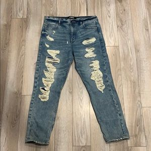 EXPRESS VINTAGE SKINNY RIPPED JEANS